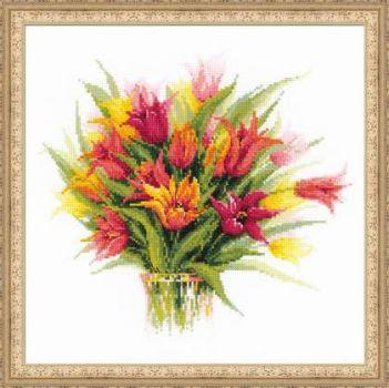 Тюльпаны в вазе 1293