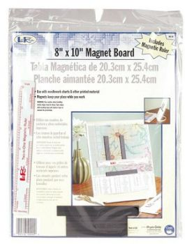 Metal board with ruler MB-8R / Металлическая доска с магнитами и линейкой