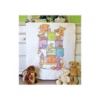 Baby Drawers Quilt 73537 /  Одеяльце  детские вещички