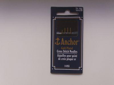 Anchor Gold Plated 26 размер / Иглы для вышивания с золотым ушком от фирмы Анкор