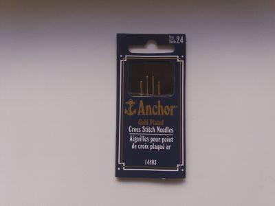 Anchor Gold Plated 24 размер / Иглы для вышивания с золотым ушком от фирмы Анкор