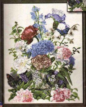 Bouquet with cat 2908 / Букет с кошкой
