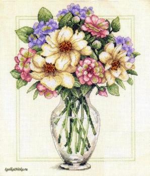 Flowers in Tall Vase 35228 / Цветы в высокой вазе
