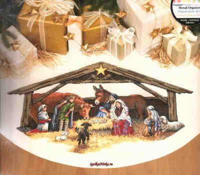 Nativity Scene Tree Skirt 8814 / Юбка под елку Сцена рождества