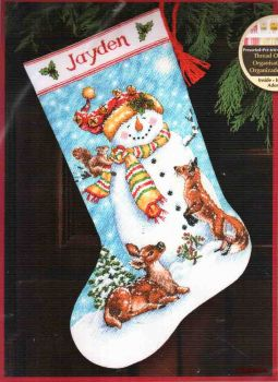 Winter Friends Stocking 70-08963 / Сапожок Зимние друзья