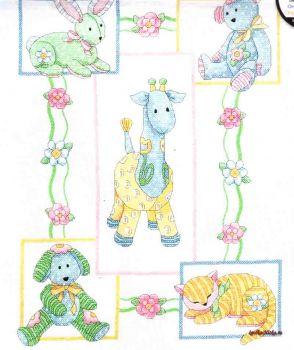 Babys Friends Quilt 73067 / Детское одеяло Друзья малыша