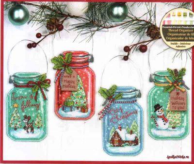 Christmas Jar Ornaments 70-08964 / Орнаменты Рождественские баночки