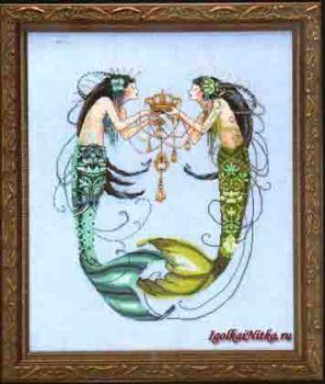 The Twin Mermaids MD-141 / Русалочки-близнецы (схема)