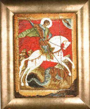 Icon St. George and the Dragon 498A / Икона Георгия Победоносца и дракона