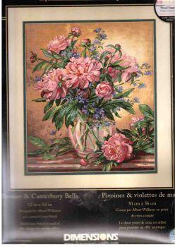 Peonies and Canterbury Bells 35211 / Пионы и колокольчики
