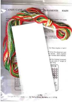 Candy Cane and Wreath Ornaments 1659 / Орнаменты Леденец и Венок