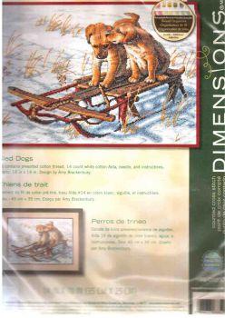 Sled Dogs 70-08852 / Два щенка на санках