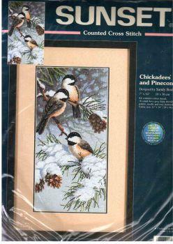 Chickadees and Pinecones 13673 / Синицы и Шишки