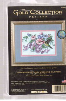 Hummingbird and Morning Glories 6971 / Колибри и Утренние Растения