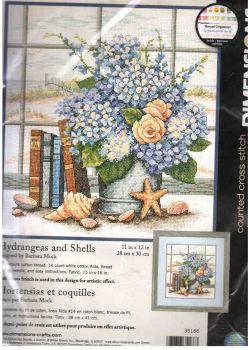 Hydrangeas and Shells 35166 / Гортензии и Ракушки