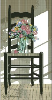 Chair with Flowers 35146 / Стул с цветами