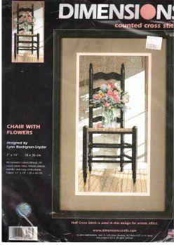 Chair with Flowers 35146 / Стул с цветами