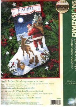 Santa s Arrival Stocking 8683 / Сапожок Приезд Санты