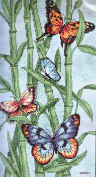 Butterflies and Bamboo 35120 / Бабочки и Бамбук