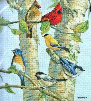 Birch Tree Birds 35252 / Птички на Берёзе