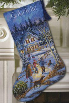 Christmas Eve Fun Stocking 08805 / Забавный сочельник