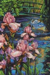 Iris and Swan 70-35264 / Ирис и лебеди