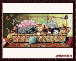 Kitty Litter 35184 / Котята в корзине