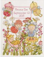 Garden Fairies Birth Record 45928 / Детская метрика Садовые феи