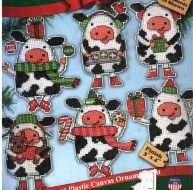 Christmas Cows Ornaments 1695 / Орнаменты Рождественские коровы