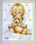 Angel with Bear  Sampler T21712  / Сэмплер Ангел с мишкой