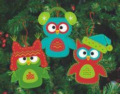 Whimsical Owls Ornaments 72-08269 / Орнаменты Причудливые совы