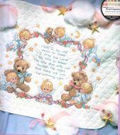Nighttime Prayer Quilt 3194 / Детское одеяло Ночная молитва