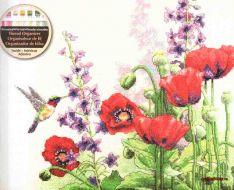 Hummingbird and Poppies 70-35344 / Колибри и маки