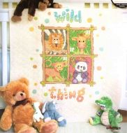 Wild Thing Quilt 73249 / Детское одеяло Дикие животные
