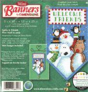 Santa and Friends Mini Banner 8821 / Мини баннер Санта и друзья