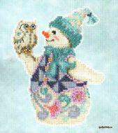 Snowy Owl Snowman JS20-5103 / Снежная сова и снеговик