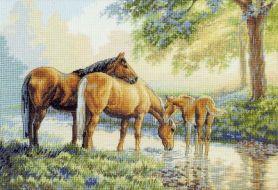 Horses by a Stream 35174 / Лошади у воды