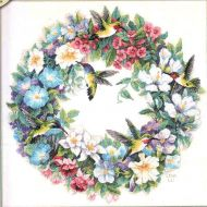 Hummingbird Wreath 035132 / Венок и колибри