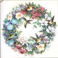 Hummingbird Wreath 035132 / Венок и колибри