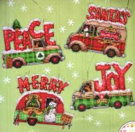 Holiday Truck Ornaments 70-08974 / Орнаменты Праздник грузовиков
