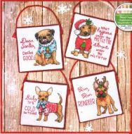 Christmas Pups Ornaments 70-08972 / Орнаменты Рождественские щенки