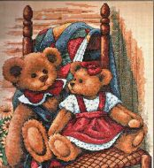 Teddies On Quilt 35103 / Мишки на Одеяле