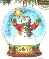 Believe Snow Globe Ornament 70-08904 / Орнамент Снежный шар вера