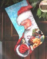 Santa and Toys Stocking 71-09145 / Сапожок Санта и игрушки