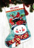 Seasonal Snowman Stocking 71-09159 / Сапожок Сезонный снеговик