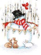 Joyful  Snowman 70-08984 / Радостный снеговик