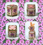Pansy Rose Cube & Embellishments JN322 / Кролик и кубик с анютиными глазками  (схемы и составляющие)