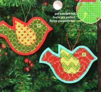 Jolly Bird Ornaments 72-08240 / Орнаменты Веселая птичка