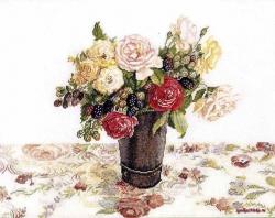 Розы и ежевика  FU-607
