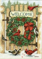 Inviting Holiday Wreath 8655 / Рождественский венок